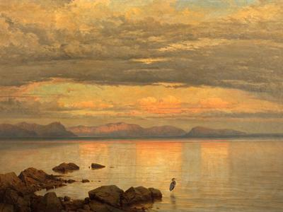 Image: Hering George Edward, 'Looking Eastward at Sunset', oil on canvas, 19th century. Adopted by Libby Rose in memory of her mother