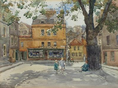 Image: Horton Sarah Elizabeth Roberts, 'Abbey Green', watercolour, c.1930. Adopted by Sue Wright & Derek Merkl of Three Abbey Green Guest House