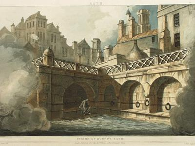 Image: Inside of the Queen's Bath, John Claude Nattes, 1804