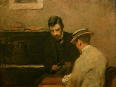 Image: Knight Charles Neil, 'A Conversation Piece', oil on canvas, c.1941. Adopted by Jenny & Peter Gunning (F)