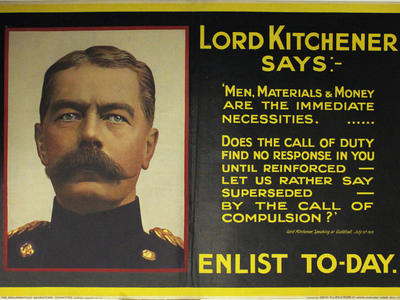 Image: Lord Kitchener says enlist to-day. Bassano, 1915