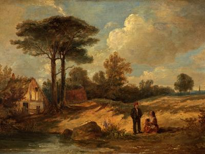 Image: Luny Thomas, 'River scene', oil on panel, late 18th - early 19th century