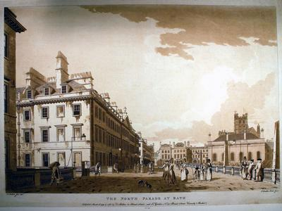 Image: Malton Thomas, 'The North Parade', print, 1779. Adopted by a private individual (F)