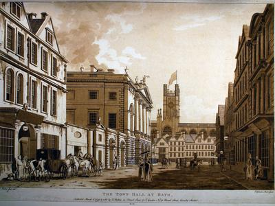 Image: Malton Thomas, 'The Town Hall at Bath', print, 1779. Adopted by a private individual (F)