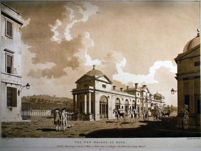Image: Malton Thomas, 'The New Bridge at Bath', print, 1779. Adopted by a private individual (F)