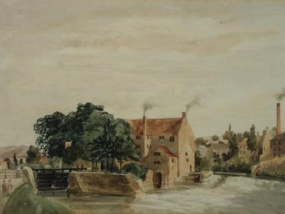 Image: Marks Edmund, 'Twerton Mills near Bath', watercolour