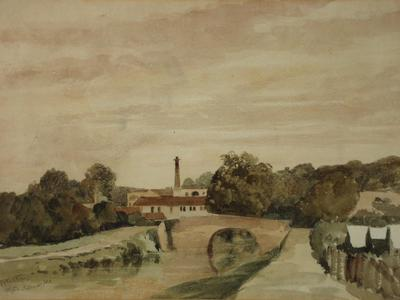 Image: Marks Edmund, 'Twerton near Bath', watercolour