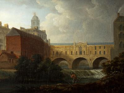 Image: Marlow William, 'Pulteney Bridge', oil on panel, 18th - early 19th century. Adopted by the Villa Magdala Hotel