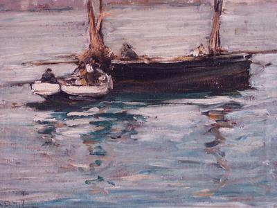 Image: McCormick Arthur David, 'Low tide, Hamble river', oil on canvas, early 20th century