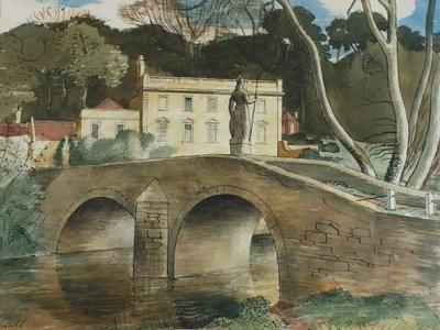 Image: Meade John, 'Iford Manor', graphite, ink and watercolour, 20th century. Adopted by Dr Sheila Day (F)