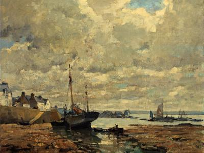 Image: Morchain Paul Bernard, 'Treboul, Brittany', oil on canvas, early 20th century