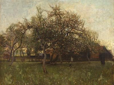 Image: Morris Charles Greville, 'The orchard', oil on canvas, late 19th - early 20th century