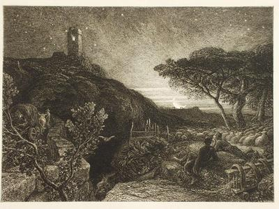 Image: Palmer Samuel, 'The Lonely Tower', engraving, 1879. Adopted by Colin Howard in memory of his mother (F)