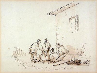 Image: George Chinnery, Chinese Men Gaming