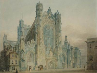 Image: JMW Turner, West front of Bath Abbey