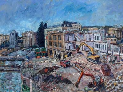 Image: Dunn Lewis gift, Demolition of Churchill House, Gerald Cain