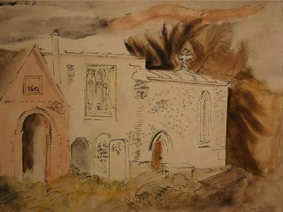 Image: Piper John, 'Ruin in the Dales', watercolour, 1939. Adopted by Colin Howard, in memory of his father Kenneth Howard (F)