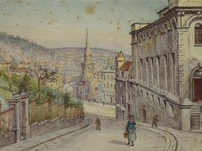 Image: Poole Samuel, 'Guinea Lane', watercolour. Adopted by a private individual. (F)