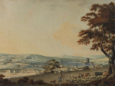Image: South West view of the city of Bath taken from New Wells Road, Samuel Alken, 1787