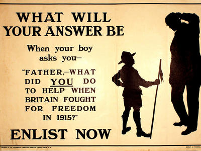 Image: What will your answer be, 1914-1915