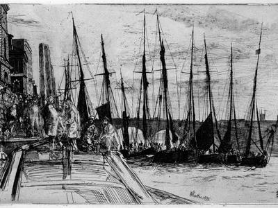 Image: Whistler James Abbott McNeill, 'Billingsgate', etching, 1859. Adopted by Libby Rose (F)