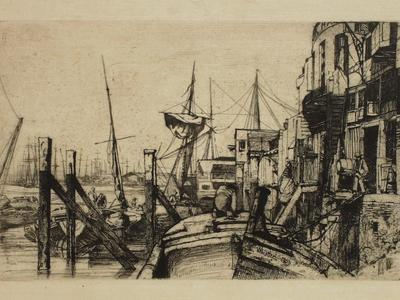 Image: Whistler James Abbott McNeill, 'Limehouse', etching, 1859. Adopted by Libby Rose