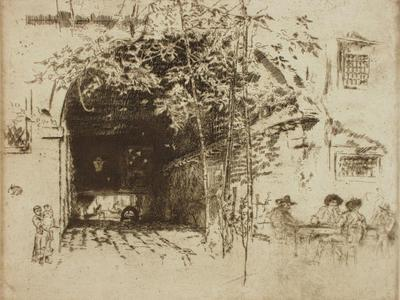 Image: Whistler James Abbott McNeill, 'The Traghetto', etching, late 19th century. Adopted by Libby Rose