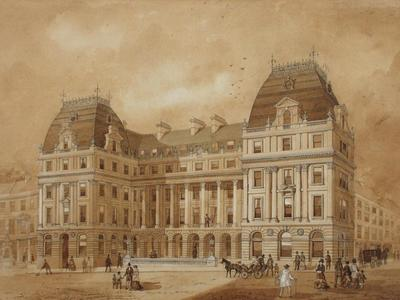Image: Wilcox William, 'Pump Room Hotel', architectural drawing, 1871. Adopted by a private individual