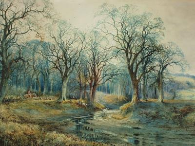 Image: Willett Arthur, 'A Sussex byroad', watercolour, late 19th century