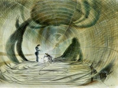 Image: Leslie Cole, W.A.A.F.s Working inside a Balloon, 1941. Watercolour. Presented by His Majesty's Government and the War Artists Advisory Committee in 1947 (photograph Norman Taylor). Courtesy The Hepworth Wakefield