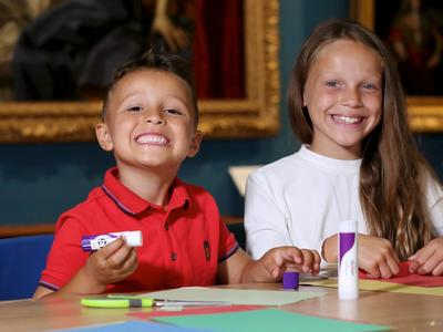 Image: Kids taking part in a craft activity