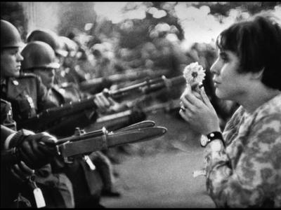 Image: Marc Riboud. Demonstration against the Vietnam War, Washington DC 1967. Copyright Marc Riboud~Magnum Photos