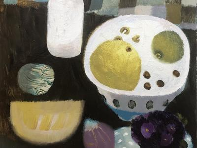 Image: A Bowl of Fruit and Violets by Mary Fedden