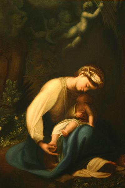 Image: After Correggio, 'Madonna della Lapina', oil on canvas. Adopted by Mr and Mrs Wagstaffe