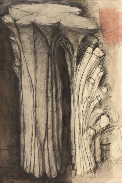 Image: Study for Tall Tree Form by James Tower