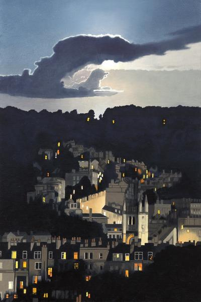 Image: Nick Cudworth, Moon over Bathwick Hill