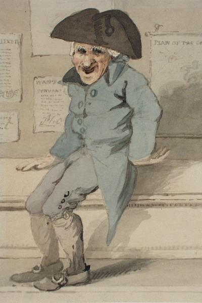 Image: An old Sailor seated on a bench, John Nixon, 1801