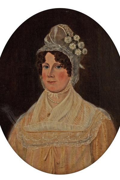 Image: British school, 'Mrs Burnell, wife of Thomas Burnell', oil on canvas, c.1820