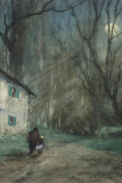 Image: Campbell Nesta Jennings, 'Winter at Langridge', pastel and gouache, 20th century. Adopted by Helen Elmore