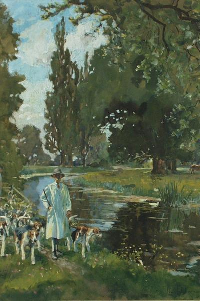 Image: Edwards Lionel Dalhosie Robertson, 'Summer exercise', gouache and graphite, early-mid 20th century