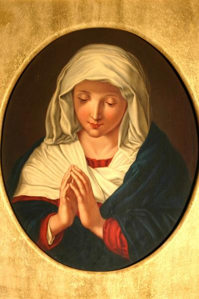 Image: Fortt, 'The Virgin in Prayer', oil on canvas, 1850. Adopted by Libby Rose