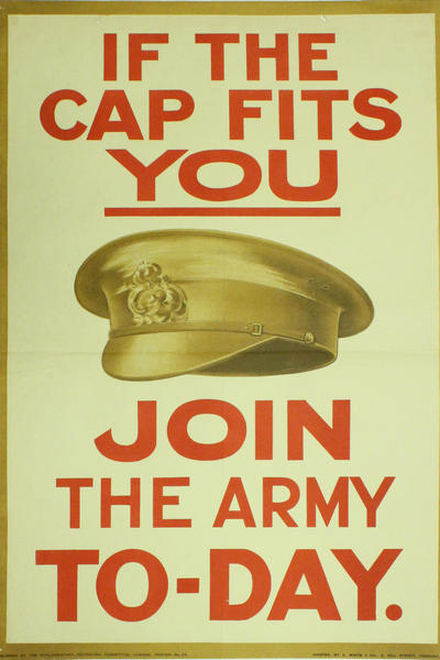 Image: If the cap fits join the army today, 1915