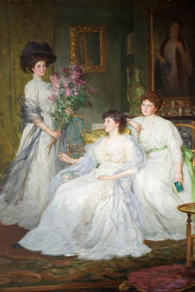 Image: Jacomb-Hood George Percy, 'The Deane Sisters', oil on canvas, c.1908. Adopted by Hotel Villa Magdala