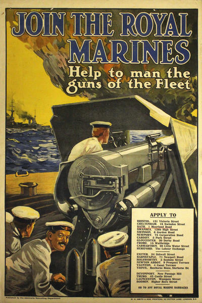 Image: Join the Royal Marines, Help to man the fleet, 1915