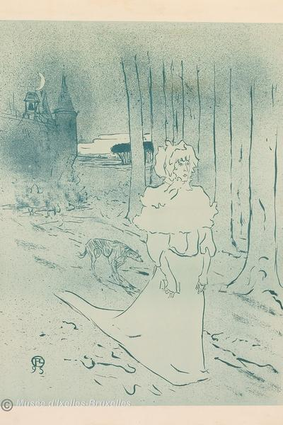 Image: The Lady of the Manor or The Omen, Henri de Toulouse-Lautrec, 1895