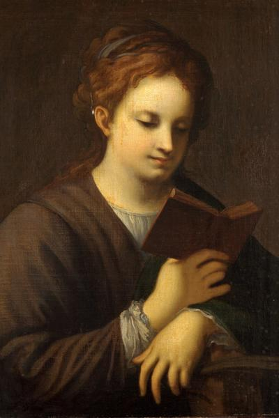 Image: Maddox Wiles, 'St. Catherine Reading', (after Coreggio) oil on canvas, mid 19th century