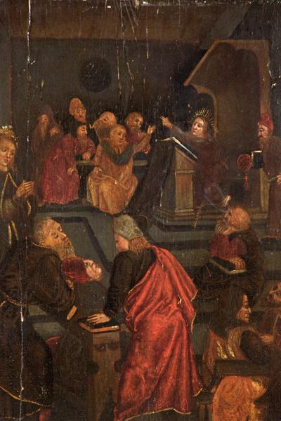 Image: Netherlandish School, 'Christ among the doctors', oil on canvas, early 16th century