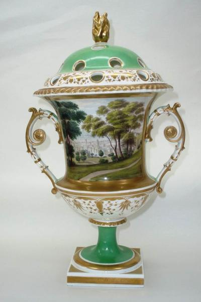 Image: Pot pourri vase after restoration showing extensive view of Bath