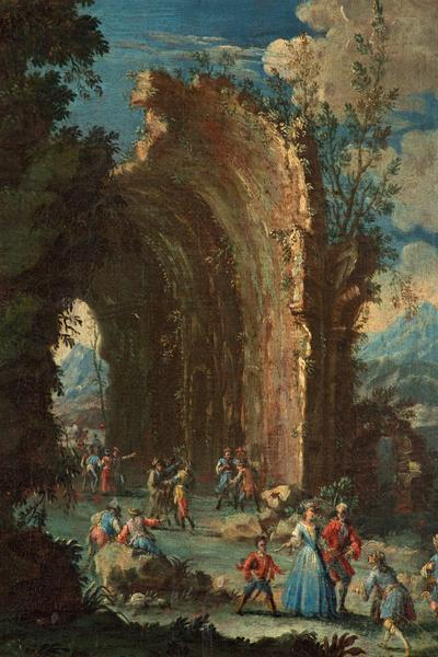 Image: Rosa Salvator (manner of), 'Landscape with figures', oil on canvas, 18th century