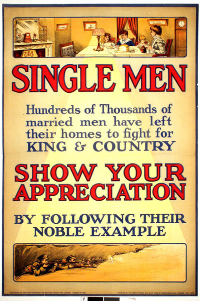 Image: Single men, 1915